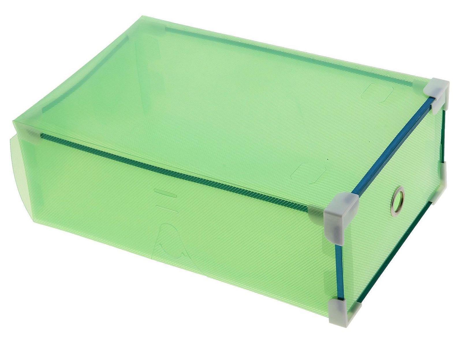 короб для хранения выдвижной 31*19,5*10,5см зеленый 7099666907099660006Коробка для мелочей изготовлена из прочного пластика. Предназначена для хранения мелких бытовых мелочей, принадлежностей для шитья и т.д. Коробка оснащена плотно закрывающейся крышкой, которая предотвратит просыпание и потерю мелких вещиц. Коробка для мелочей сохранит ваши вещи в порядке. Материал: Пластик, металл