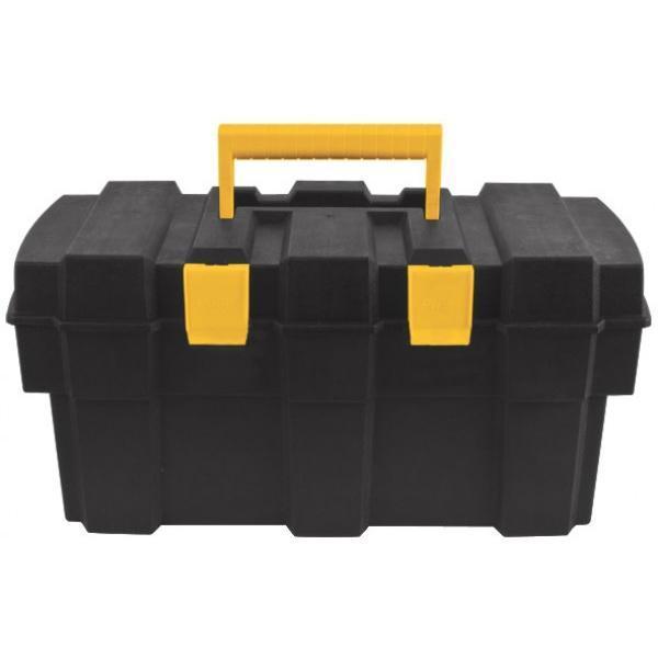 Ящик для инструментов FIT, 1665517Ящик для инструментов FIT изготовлен из прочного пластика и предназначен для хранения и переноски инструментов. Вместительный, имеет съемный лоток, большое отделение и две защелки, не допускающие случайного открывания. Для более комфортного переноса в руках, на крышке ящика предусмотрена удобная ручка.