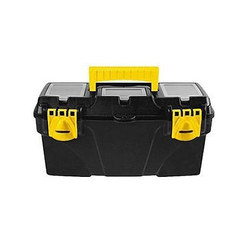 Ящик для инструментов пластиковый FIT, 41 х 21,5 х 19,7 смSC-FD421005Ящик FIT 65562 предназначен для бережного и компактного хранения различного инструмента и крепежа. Данная модель обладает вместительными габаритами и имеет длину по диагонали 16 дюймов. Также, ящик FIT 65562 изготовлен из ударопрочного пластика и оснащен усиленной рукояткой для переноски.
