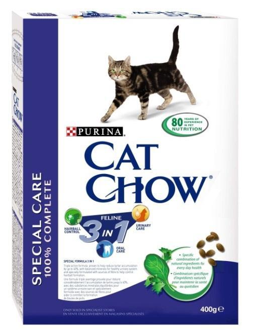 Корм сухой для кошек Cat Chow Feline, с формулой тройного действия, 400 г12212272Корм сухой для кошек Cat Chow Feline - полнорационный корм для взрослых кошек с формулой тройного действия. Сама природа вдохновляет компанию PURINA на разработку кормов, которые максимально отвечают потребностям ваших питомцев, с учетом их природных инстинктов. Имея более чем 80-ти летний опыт в области питания животных, PURINA создала новый корм Cat Chow - полностью сбалансированный корм, который не только доставит удовольствие вашей кошке, но и будет полезным для ее здоровья. Особенности корма Cat Chow Feline: Высокое содержание мяса, с источниками высококачественного белка в каждой порции для поддержания оптимальной массы тела. Особое сочетание натуральных ингредиентов, тщательно отобранные травы и овощи (петрушка, шпинат, морковь, горох). Отборные ингредиенты придают особый аромат. Высокое содержание витамина Е для поддержания естественной защиты организма питомца. Содержит мякоть свеклы и цикорий для...