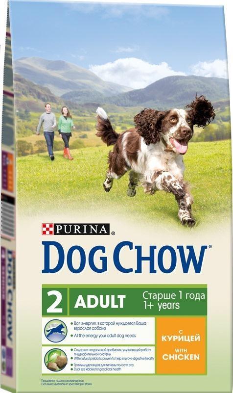 Корм сухой Dog Chow для взрослых собак, с курицей, 14 кг12233255Корм сухой Dog Chow - полнорационный корм для взрослых собак с курицей. Рецептура кормов Dog Chow составлена таким образом, чтобы ваша взрослая собака получала необходимое количество питательных веществ, для удовлетворения своих энергетических потребностей. Содержит натуральный пребиотик, улучшающий работу пищеварительной системы. В состав корма входит цикорий - источник натурального пребиотика, который способствует росту численности полезных кишечных бактерий и нормализации деятельности пищеварительной системы. Гранулы двух видов для гигиены полости рта. Специальная форма и текстура гранул способствует легкому пережевыванию и поддержанию здоровья полости рта. Наши диетологи и заводчики тщательно протестировали это сочетание гранул для гарантии того, что они подходят и нравятся взрослым собакам различных пород. Добавление витаминов группы В способствует равномерному высвобождению энергии из белков и жиров пищи, что позволяет собаке...