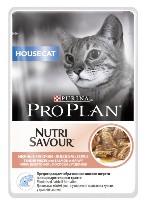 Консервы Pro Plan Nutri Savour для домашних кошек, с лососем, 85 г12249425Корм полнорационный консервированный Pro Plan Nutri Savour для взрослых кошек, с индейкой в соусе. Высокое содержание белка способствует поддержанию идеальной массы тела. Снижение образования комков шерсти в желудке благодаря высокому содержанию клетчатки. Содержание пребиотиков способствует здоровому пищеварению и уменьшению запаха из лотка. Нежные кусочки в пикантном соусе очень привлекательны для кошек благодаря запатентованной технологии производства департамента Purina компании Nestle. Состав: мясо и продукты переработки мяса, экстракты растительных белков, рыба и продукты переработки рыбы (в том числе лосось), растительные и животные жиры, минеральные вещества, красители, антиоксиданты, сахара, продукты переработки растительного сырья, витамины. Добавленные вещества: МЕ/кг: витамин А 1036, витамин D3 145, витамин Е 267, мг/кг: таурин 447, железо 9,89, йод 0,37, медь 0,94, марганец 1,73, цинк 26,77, селен 0,022. Гарантируемые показатели: влажность 79%, белок...