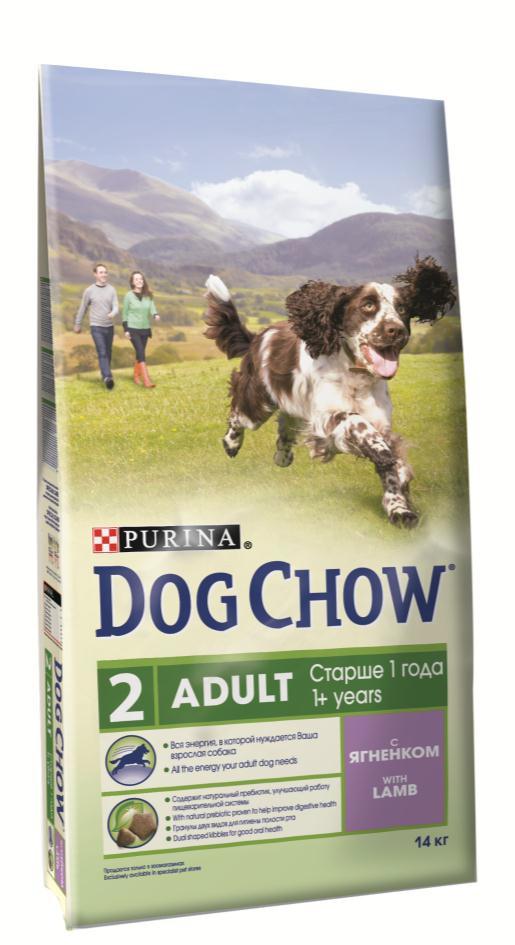 Корм сухой Dog Chow Adult для взрослых собак, с ягненком, 2,5 кг0120710Корм сухой Dog Chow Adult - полнорационный корм для взрослых собак старше 1 года с ягненком. Рецептура кормов Dog Chow составлена таким образом, чтобы ваша взрослая собака получала необходимое количество питательных веществ, для удовлетворения своих энергетических потребностей. Содержит натуральный пребиотик, улучшающий работу пищеварительной системы. В состав корма входит цикорий - источник натурального пребиотика, который способствует росту численности полезных кишечных бактерий и нормализации деятельности пищеварительной системы. Гранулы двух видов для гигиены полости рта. Специальная форма и текстура гранул способствует легкому пережевыванию и поддержанию здоровья полости рта. Наши диетологи и заводчики тщательно протестировали это сочетание гранул для гарантии того, что они подходят и нравятся взрослым собакам различных пород. Добавление витаминов группы В способствует равномерному высвобождению энергии из белков и жиров пищи, что позволяет собаке сохранять выносливость более продолжительное время и дольше оставаться активной. Оптимальное содержание белка, чтобы обеспечить продолжающееся формирование крепкой мускулатуры у вашей активной взрослой собаки. Незаменимые минеральные элементы и витамины для сохранения прочности зубов и костей. Состав: злаки, мясо и продукты переработки мяса (8%), продукты переработки сырья растительного происхождения, масла и жиры, экстракт растительного белка, овощи (сухой корень цикория), минеральные вещества, витамины. Добавленные вещества (на 1 кг): витамин А 21000 МЕ; витамин D3 1200 МЕ, витамин Е 100 МЕ, витамины группы В 83,5 мг, железо 87,2 мг, йод 2,2 мг, медь 9,7 мг, марганец 6,6 мг, цинк 157,2 мг, селен 0,21 мг. Гарантируемые показатели: белок 25%, жир 12%, сырая зола 8%, сырая клетчатка 3%.Вес: 2,5 кг.Товар сертифицирован.