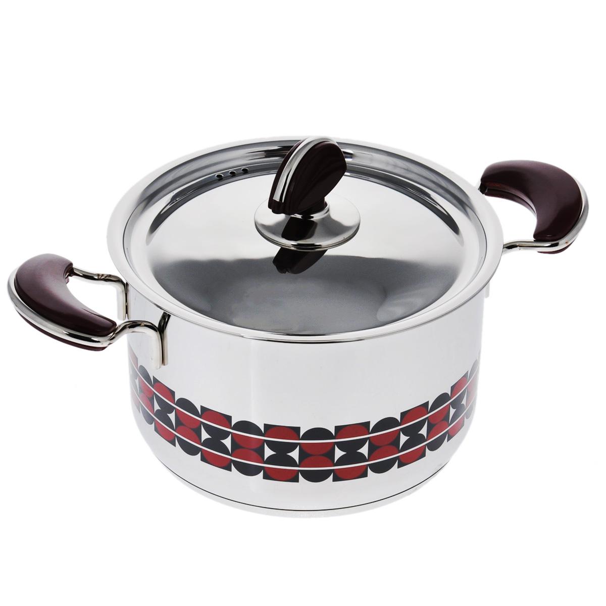 Кастрюля Kitchen-Art EX Pot с крышкой, 2,2 лZH3002Кастрюля Kitchen-Art EX Pot выполнена из высококачественной нержавеющей стали Премиум-ЛЮКС с зеркальной полировкой. Внешние стенки оформлены красивым геометричным рисунком в стиле Luxury. Дно изделия с трехслойным напылением, легкое, но очень прочное. Модный европейский дизайн, обтекаемые линии и формы. Для удобного использования ручки из нержавеющей стали оснащены бакелитовыми вставками бордового цвета. Крышка выполнена из нержавеющей стали со специальными отверстиями для выпуска пара. Подходит для всех типов плит, включая индукционные. Можно мыть в посудомоечной машине. Высота стенки: 12 см. Ширина (с учетом ручек): 31 см. Толщина стенки: 2 мм. Толщина дна: 4 мм. Диаметр дна: 16 см.