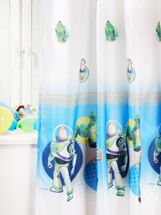 Портьера ТАС Toy Story, 200 см х 265 смGS0446Портьера TAC Toy Story, изготовленная из плотного полиэстера, великолепно украсит окно детской комнаты. Портьера осуществит заветную мечту вашего ребенка окунуться в волшебный мир сказок, а любимые персонажи мультфильма История игрушек создадут атмосферу уюта для вашего малыша. Эта портьера будет долгое время радовать вас и вашего ребенка! Портьера крепится на карниз при помощи ленты, которая поможет красиво и равномерно задрапировать верх. Ширина ленты: 4 см. Уважаемые клиенты! Обращаем ваше внимание на тот факт, что ширина ленты может изменяться в зависимости от поставки.
