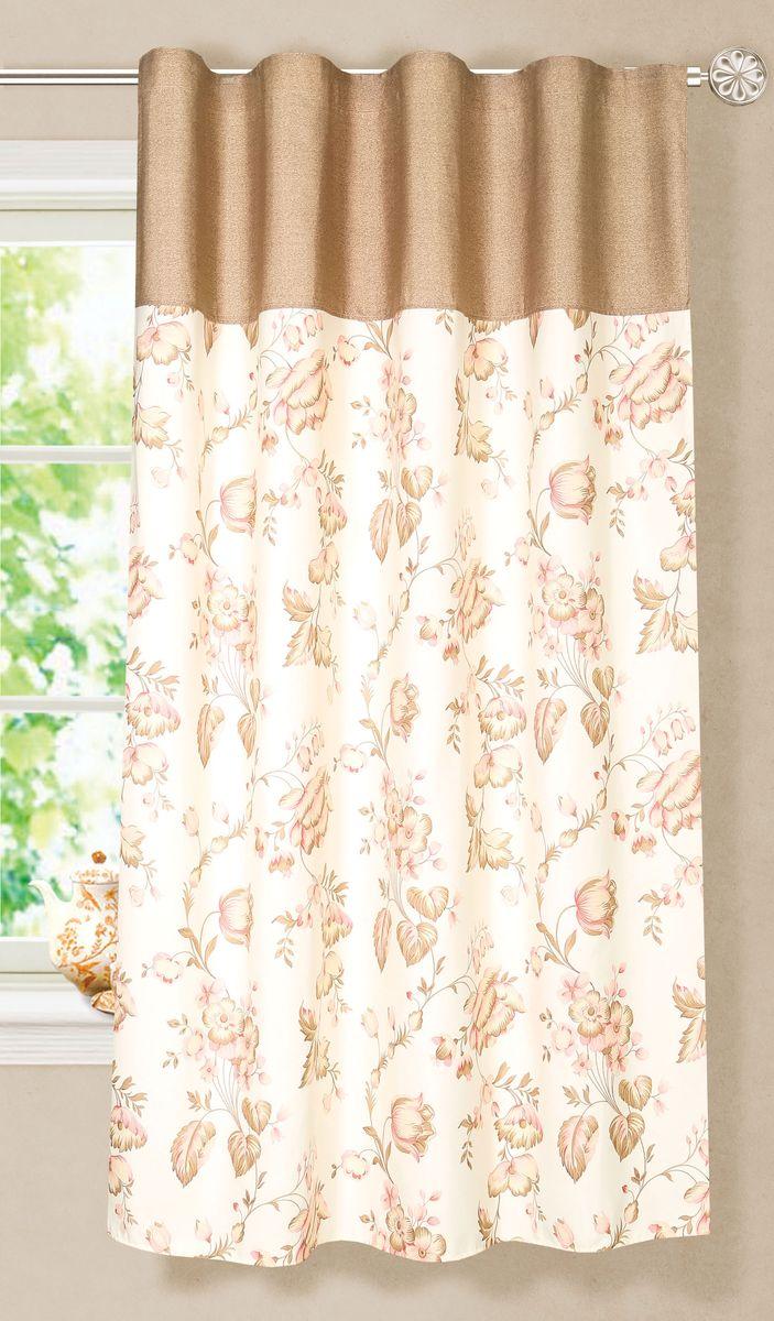 Штора готовая для кухни Garden, на ленте, цвет: горчичный, размер 180 см. С8172-W1687-W1687V3С8172-W1687-W1687V3Элегантная портьерная штора Garden выполнена из ткани репс (полиэстер). Плотная ткань, приятная цветовая гамма, цветочный принт привлекут к себе внимание и органично впишутся в интерьер помещения. Эта штора будет долгое время радовать вас и вашу семью! Штора крепится на карниз при помощи ленты, которая поможет красиво и равномерно задрапировать верх.