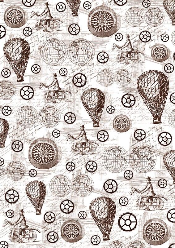 Пленка-оверлей для скрапбукинга Стимпанк, воздушные шары и компас, 21 см х 30 смAM403025Пленка-оверлей Стимпанк, воздушные шары и компас - прозрачная пленка с нанесенным рисунком. Используется чаще всего в скрапбукинге для декорирования фотографий, альбомов, открыток, блокнотов, сувенирных книг и прочего. Для крепления пленки используются разные способы - люверсы, машинная строчка, можно привязать ленточкой, сделав надрез или отверстие, можно приклеить на клей (двухсторонний скотч, и т.п.) и задекорировать это место другими элементами украшений (цветочками, ленточками, пуговками, аппликациями). На пленке можно писать перманентной ручкой или маркером.