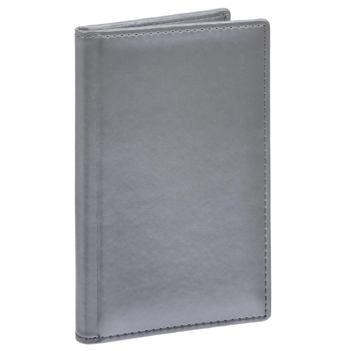 Визитница Berlingo Caprice Thermo, на 96 визиток, цвет: серебристый. 48Вз5_03526FS-00103Вместительная визитница Berlingo Caprice Thermo изготовлена из искусственной кожи. Лицевая сторона оформлена тиснением в виде бренда. Внутри содержится съемный блок с кармашками из прозрачного мягкого пластика, рассчитанный на 96 визиток, а также боковой вместительный карман. Изделие упаковано в подарочную картонную упаковку.Стильная визитница подчеркнет вашу индивидуальность и изысканный вкус, а также станет замечательным подарком человеку, ценящему качественные и практичные вещи.