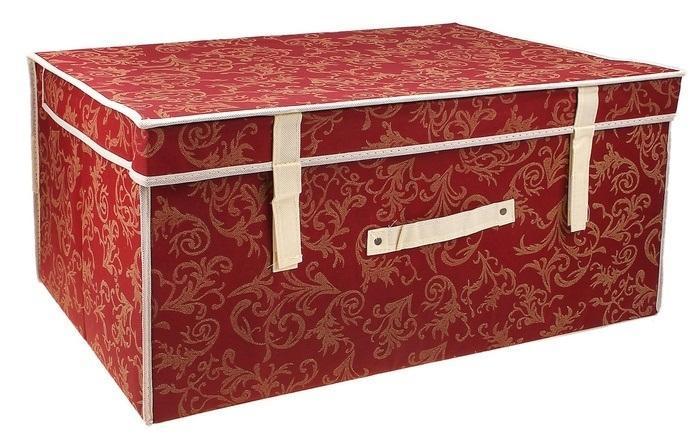 контейнер для хранения(жёсткий) 60*40*30см,бордовый 830830Декоративный контейнер - отличный способ для хранение вещей! Благодаря универсальности изделия, в контейнере можно хранить самые разнообразные вещи: бижутерию, лекарства, швейные принадлежности.Такой контейнер поможет держать вещи в порядке. Декоративный контейнер даст Вам возможность сохранить все в одном месте, а также защитить вещи от пыли, грязи и влаги. Материал: Флизелин,картон