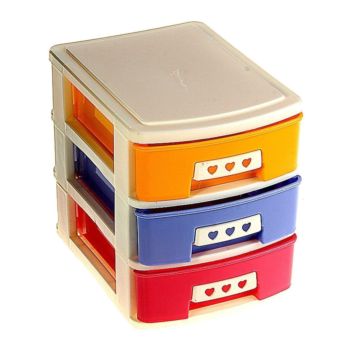 Мини-комод для мелочей трехсекционный, 19*14*17 см 848406FS-91909Хозтовары – важнейший элемент нашей повседневной жизни, они настоящие маленькие помощники в быту. Мини-комод для мелочейпрекрасно подойдет для хранения и транспортировки различных мелочей. Комод имеет 3 секции. Такой комод поможет держать вещи в порядке. Материал: Пластик