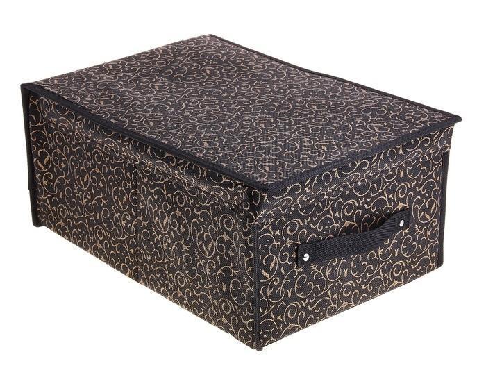 контейнер для хранения(жёсткий)45*30*20см,кофейный 709738FS-91909Декоративный контейнер - отличный способ для хранение вещей!Благодаря универсальности изделия, в контейнере можно хранить самые разнообразные вещи: бижутерию, лекарства, швейные принадлежности.Такой контейнер поможет держать вещи в порядке. Декоративный контейнер даст Вам возможность сохранить все в одном месте, а также защитить вещи от пыли, грязи и влаги. Материал: флизелин,картон