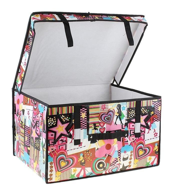 контейнер для хранения(жёсткий) Модница 50*40*30см 709749709749Декоративный контейнер - отличный способ для хранение вещей! Благодаря универсальности изделия, в контейнере можно хранить самые разнообразные вещи: бижутерию, лекарства, швейные принадлежности.Такой контейнер поможет держать вещи в порядке. Декоративный контейнер даст Вам возможность сохранить все в одном месте, а также защитить вещи от пыли, грязи и влаги. Материал: Клеёнка на флизелине,картон