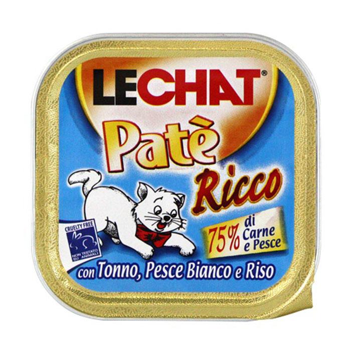 Консервы для кошек Monge Lechat, с тунцом и океанической рыбой, 100 г0120710Консервы для кошек Monge Lechat - это полноценный сбалансированный корм для кошек с тунцом и океанической рыбой. Состав: тунец 41%, океаническая рыба 8%, мясо и мясные субпродукты 12%, рис 4,2%, минеральные вещества, сахар, витамины. С разрешенными в ЕЭС консервантами. Анализ компонентов: протеин 8%, жир 7,5%, клетчатка 0,5%, зола 2,5%, влажность 81%. Витамины и добавки на 1 кг: витамин Е 5 мг. Товар сертифицирован.