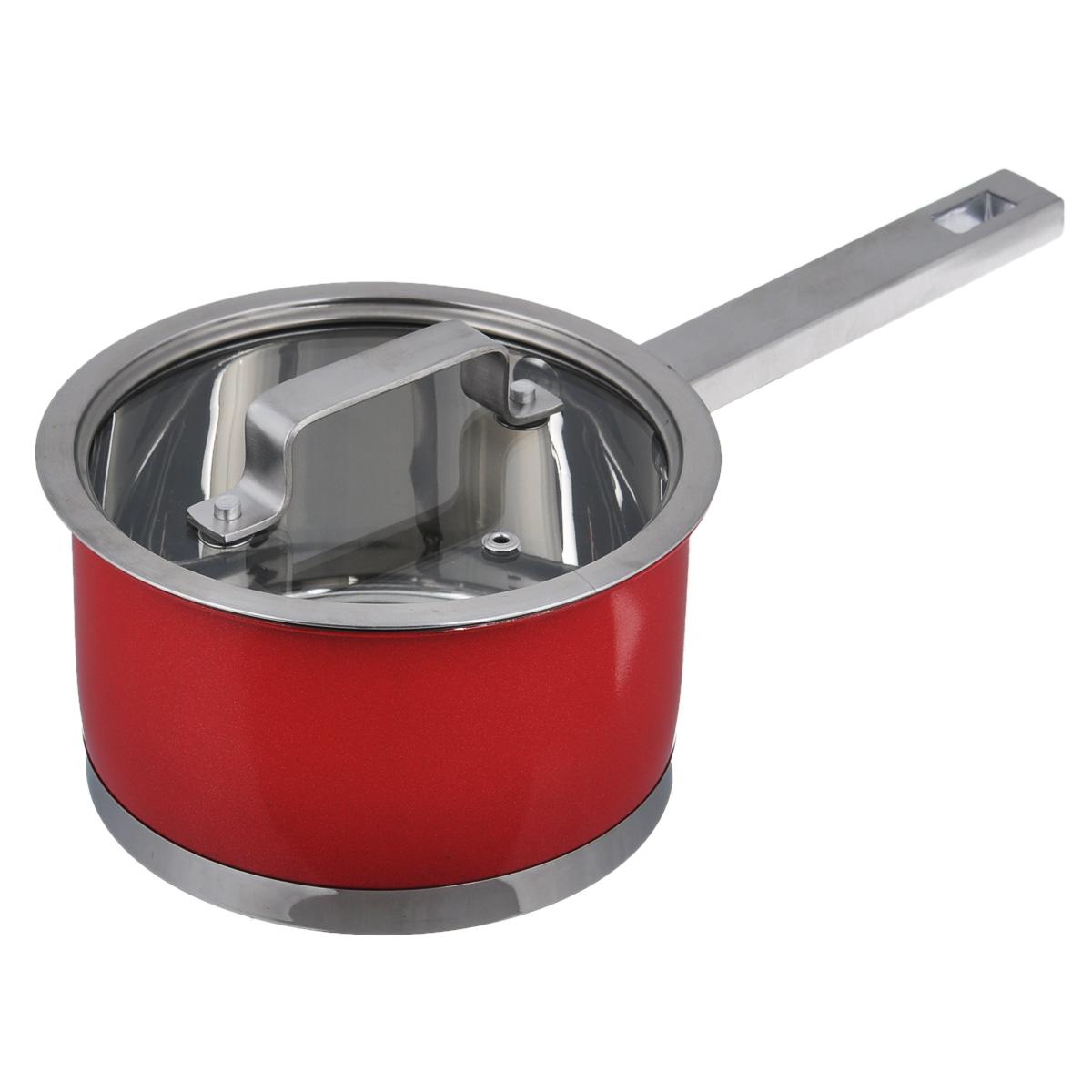 Ковш Bohmann с крышкой, цвет: красный, 1,9 л2716BHNEWКовш Bohmann, изготовленный из высококачественной нержавеющей стали. Ковш имеет капсульное дно с алюминиевым основанием, которое быстро и равномерно накапливает тепло и так же равномерно передает его пище. Оно позволяет готовить блюда с минимальным количеством воды и жира, сохраняя при этом вкусовые и питательные вещества продуктов. Внешняя поверхность ковша оформлена сочетанием зеркальной и матовой цветной полировки. Изделие оснащено удобной ручкой из нержавеющей стали. Крышка ковша изготовлена из жаропрочного стекла и оснащена отверстием для выхода пара, ободком из нержавеющей стали и удобной ручкой. Благодаря особенному дизайну крышки, пар, образующийся в процессе приготовления, собирается в центре крышки и, конденсируясь, капает на дно кастрюли. Крышка и обод кастрюли имеют такую форму, что между ними образуется водное кольцо, предотвращающее испарение влаги и потерю вкусовых свойств продуктов. Ковш Bohmann - это идеальный подарок для современных хозяек, которые...