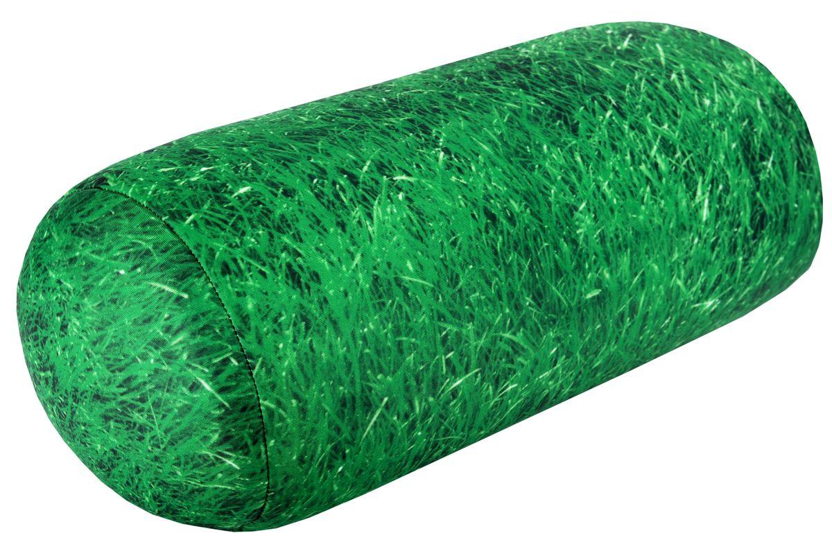 Подушка-антистресс Home Queen Газон, 16 х 30 см61629Подушка-антистресс Home Queen Газон, выполненная в форме валика, - это не только антистресс, но и оригинальный аксессуар для интерьера. Чехол из трикотажной ткани оформлен ярким рисунком зеленой травы. Внутри - антистрессовый полистироловый наполнитель. Подушка с мягкой пластичной структурой и ярким принтом станет прекрасным украшением интерьера детской или гостиной. Материал наволочки: трикотажная ткань (85% нейлон, 15% полиуретан). Наполнитель: 100% полистирол. Размер подушки: 16 см х 30 см.