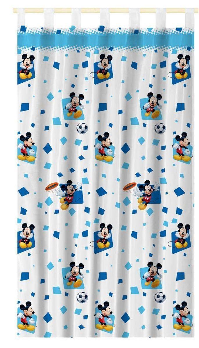 """Штора интерьерная Disney """"Микки Маус"""", на петлях, полупрозрачная, высота 280 см 64883"""