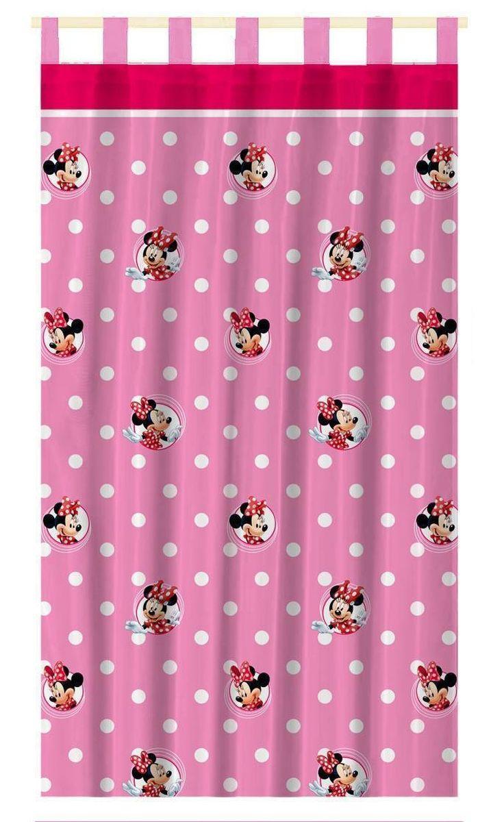 Штора интерьерная Disney Минни Маус, на петлях, высота 280 см64890Штора Disney Минни Маус изготовлена из 100% полиэстера. Она удобна в эксплуатации и проста в уходе. Изделие не деформируется и не теряет яркость нанесенного рисунка. Штора интерьерная Disney Минни Маус с изображением любимой героини украсит детскую комнату и непременно будет радовать вашего ребенка. Крепится на петлях. Рекомендации по уходу: стирать в ручном режиме без использования отбеливающих средств. Химчистка запрещена.
