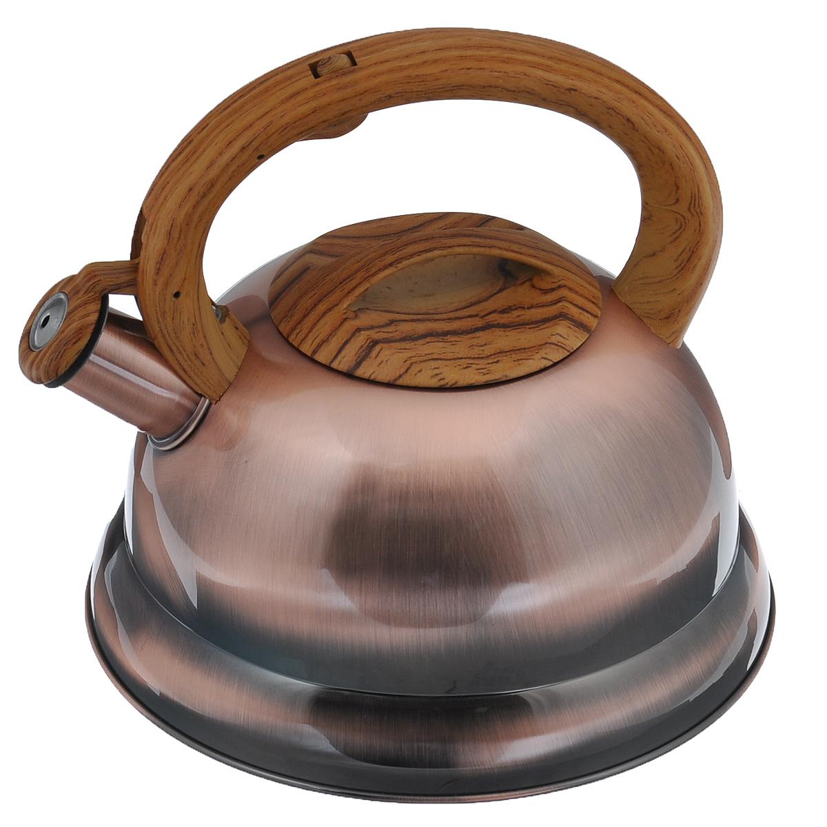 Чайник Bekker Koch со свистком, цвет: золотистый, 3,5 л. BK-S413ВК-S413 золотой
