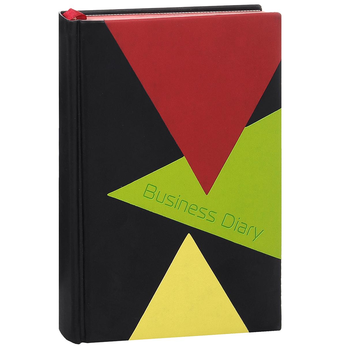 """Ежедневник Listoff """"Business Prestige. Modern"""", полудатированный, цвет: черный, красный, желтый, 192 листа. Формат А5 ЕКП51419219"""
