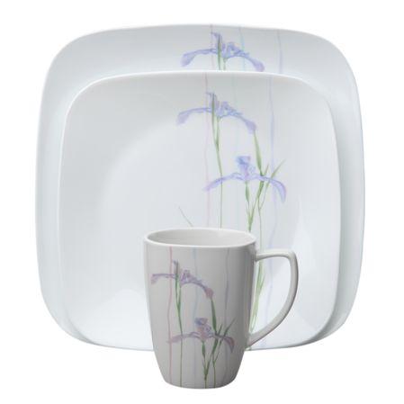 Набор посуды Shadow Iris 16пр, цвет: белый с рисунком1085645Преимуществами посуды Corelle являются долговечность, красота и безопасность в использовании. Вся посуда Corelle изготавливается из высококачественного ударопрочного трехслойного стекла Vitrelle и украшена деколями американских и европейских дизайнеров. Рисунки не стираются и не царапаются, не теряют свою яркость на протяжении многих лет. Посуда Corelle не впитывает запахов и очень долгое время выглядит как новая. Уникальная эмаль, используемая во время декорирования, фактически становится единым целым с поверхностью стекла, что гарантирует долгое сохранение нанесенного рисунка. Еще одним из главных преимуществ посуды Corelle является ее безопасность. В производстве используются только безопасные для пищи пигменты эмали, при производстве посуды не применяется вредный для здоровья человека меламин. Изделия из материала Vitrelle:...