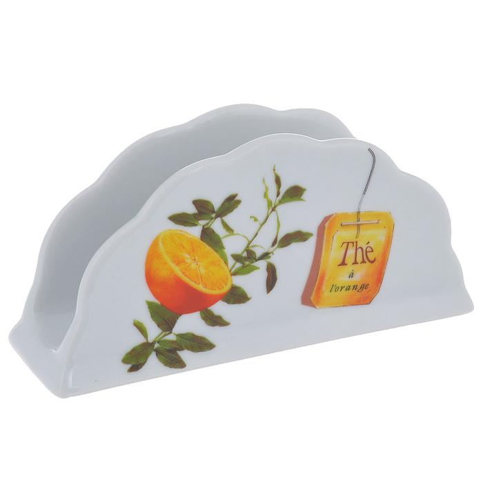 Салфетница Larange Апельсин. 586-280586-280Салфетница Апельсин выполнена из высококачественного фарфора и украшена изображением апельсинов. Салфетница идеально подойдет для украшения стола и станет отличным подарком к любому празднику. Элегантный дизайн салфетницы придется по вкусу и ценителям классики, и тем, кто предпочитает утонченность и изысканность. Не использовать в микроволновой печи. Не применять абразивные чистящие вещества. Размер салфетницы: 14 см х 4 см х 6,8 см.
