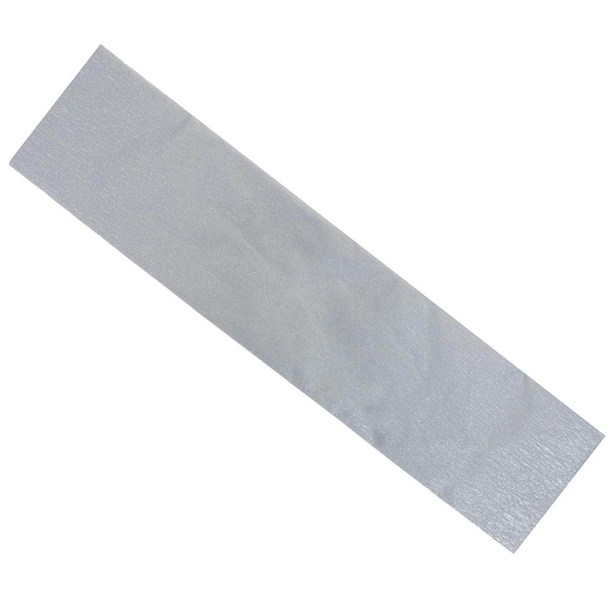 """Крепированная бумага """"Hatber"""", металлизированная, цвет: серебристый, 5 см х 25 см Бк2мт_00026"""