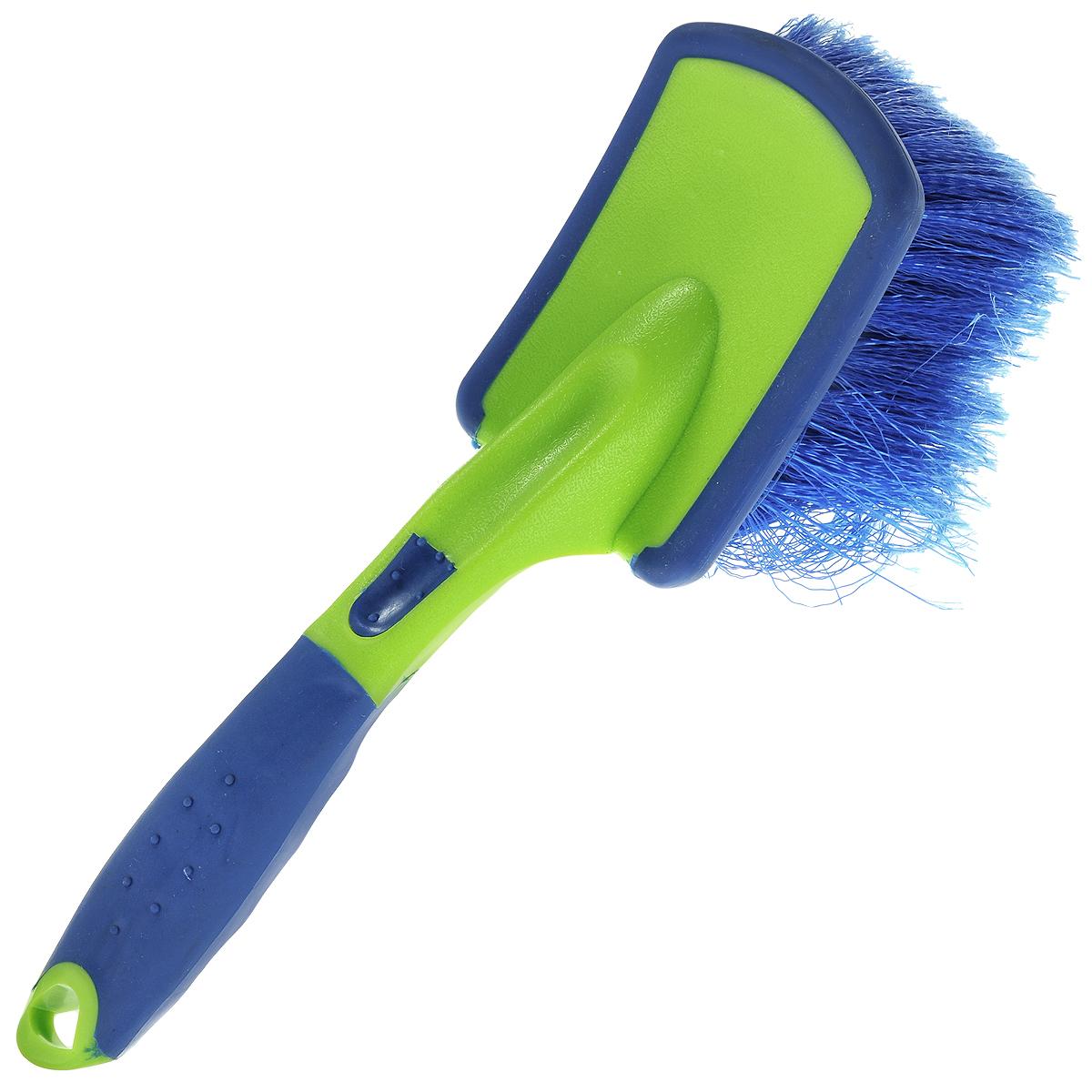 Щетка для мытья автомобиля Sapfire, цвет: синий, салатовый, 24,5 см0725-SBDЩетка Sapfire предназначена для мытья автомобиля. Рукоятка выполнена из прочного прорезиненного пластика. Щетка из специального полимера обеспечивает длительную эксплуатацию. Мягкая долговечная щетина с распушенными кончиками легко справится с грязью, не повреждая лакокрасочного покрытия автомобиля. Размер рабочей поверхности (ДхШхВ): 10 см х 7 см х 6 см.