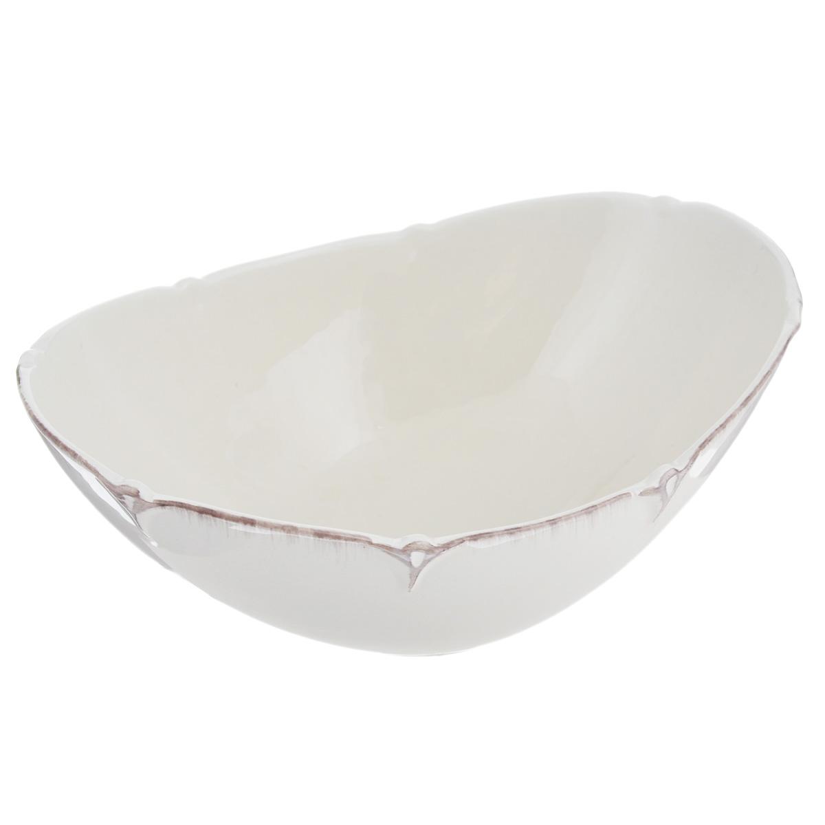"Лилло / Lillo Салатник Lillo ""Ideal"", цвет: молочный, 22 см х 16 см 214949"
