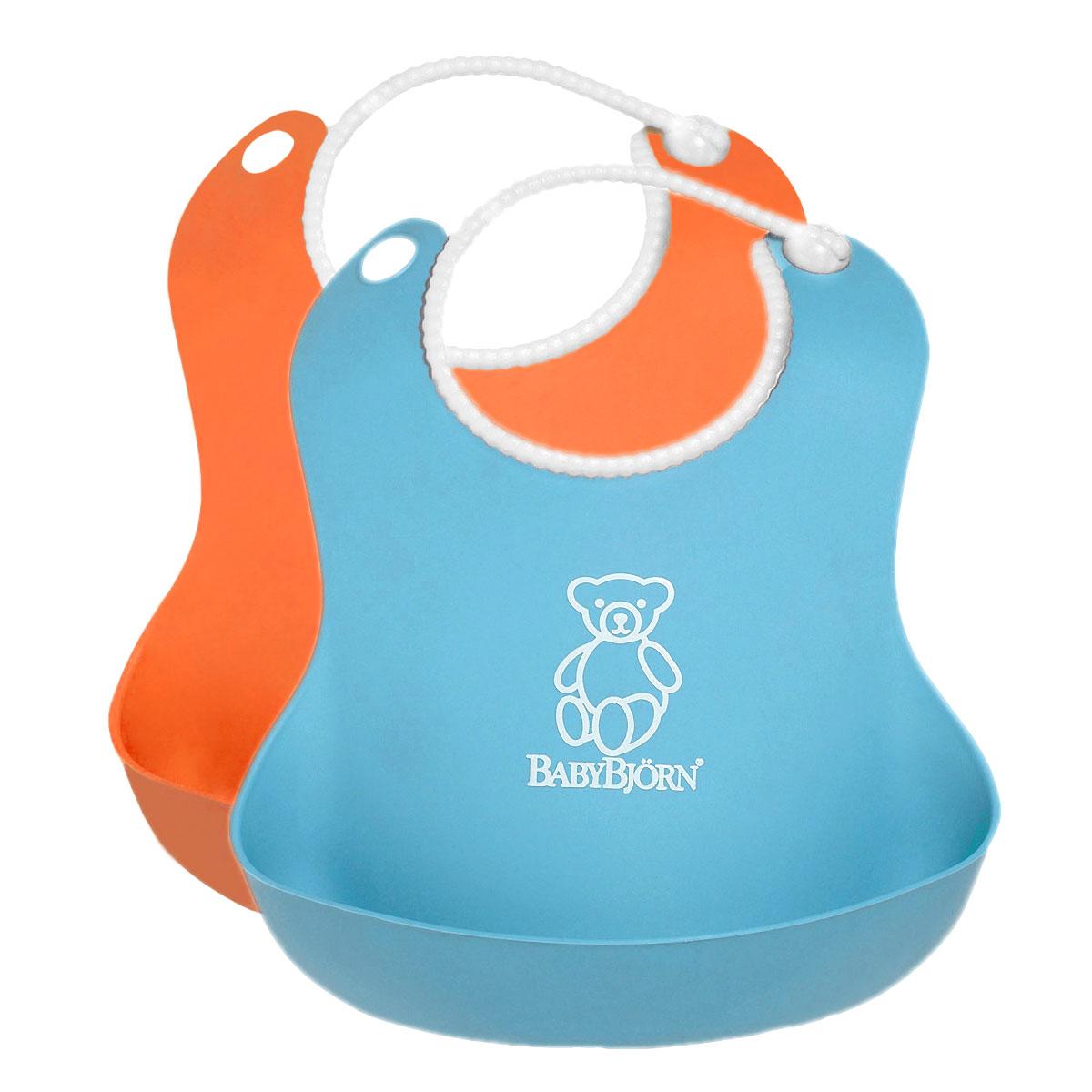 """Комплект нагрудников """"BabyBjorn"""", цвет: оранжевый, бирюзовый, 2 шт 0462.07"""