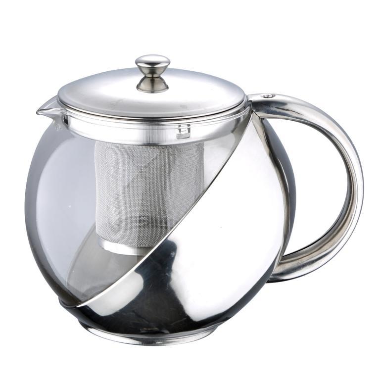 Чайник заварочный Wellberg Trendy, 1 лVT-1520(SR)Чайник заварочный Wellberg Trendy предназначен для заваривания чая и трав. Корпус изготовлен из жаропрочного стекла и нержавеющей стали с зеркальной полировкой. Чайник оснащен съемным ситечком и крышкой. Чайник Wellberg - качественное исполнение и стильное решение для вашей кухни. Диаметр (по верхнему краю): 9,5 см. Высота стенки: 12 см. Высота фильтра: 10 см.