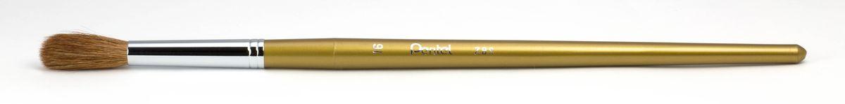 Кисть для рисования Pentel, пони, круглая, размер 16ZBS1-16Кисть для рисования Pentel изготовлена из волоса пони. В отличие от обычных лошадей, волос пони отличается мягкостью, гладкостью, шелковистостью. Волос пони толще волоса белки, поэтому кисти из пони более плотные. Основное применение: акварель, гуашь, клей и косметические средства. Длина кисти: 28 см. Материал: мех пони, пластик, металл. Ширина щетины: 1,4 см. Длина щетины: 3 см.