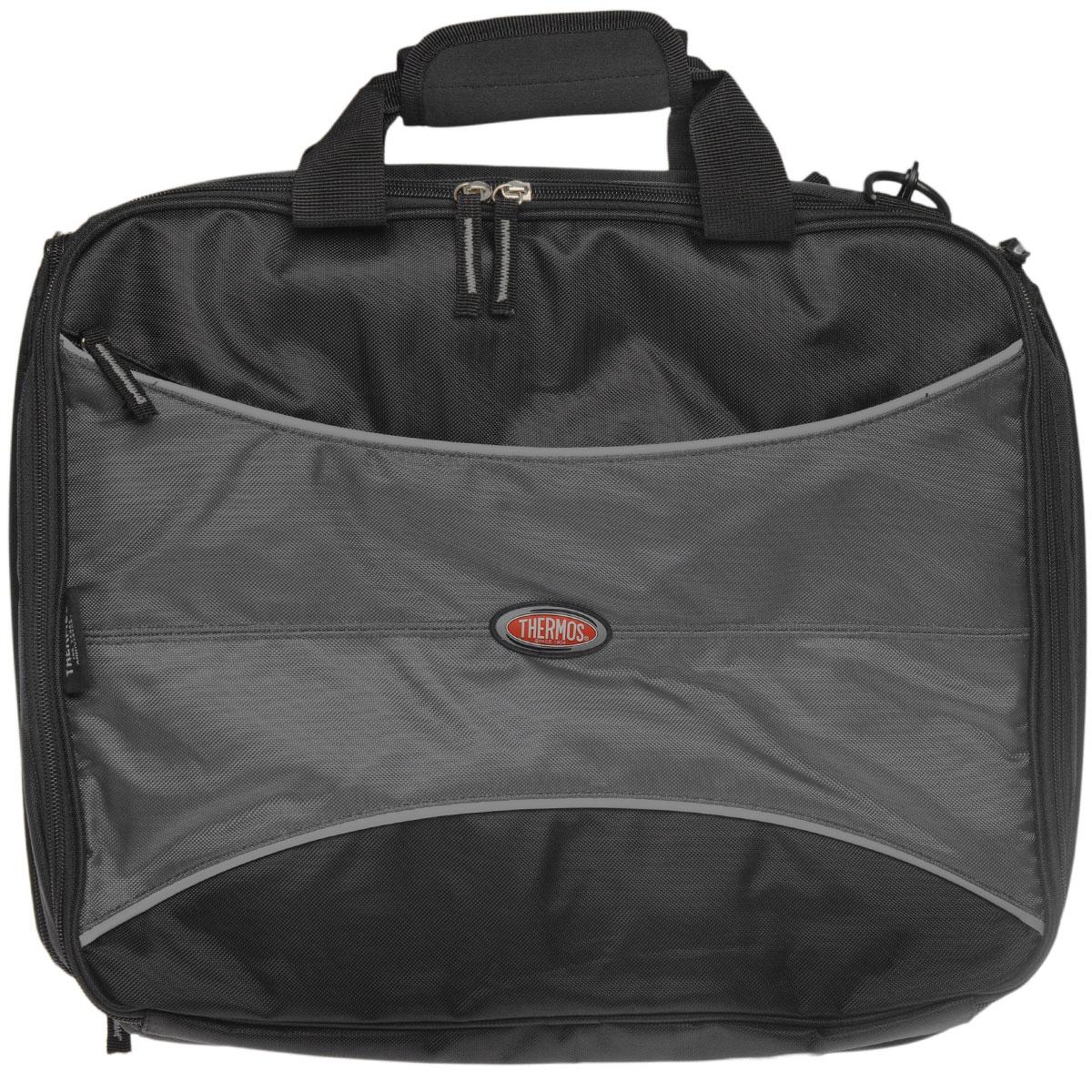 Сумка для ноутбука Thermos, 44 см х 37 см х 9 см735317Конструкция сумки Thermos предполагает ее использование в качестве рюкзака (дополнительно укомплектована плечевым ремнем со съемными карабинами). Отличается легкостью и прочностью, легко моется. Очень удобная, практичная и универсальная сумка.