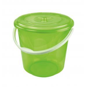 Ведро Альтернатива Хозяюшка, с крышкой, цвет: зеленый, 10 лМ1213Ведро Альтернатива Хозяюшка изготовлено из высококачественного пластика и оснащено отметками литража. Оно легче железного и не подвержено коррозии. Ведро имеет удобную пластиковую ручку и плотно прилегающую крышку. Такое ведро станет незаменимым помощником в хозяйстве. Идеально для хранения пищевых отходов. Диаметр: 27 см. Высота (без учета крышки): 26 см.
