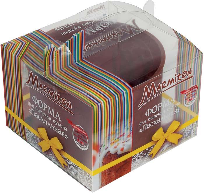 """Marmiton Форма силиконовая для выпечки кулича """"Пасхальная"""", 1,5 л + ПОДАРОК: украшения для пасхальных яиц, 10 шт 16125"""