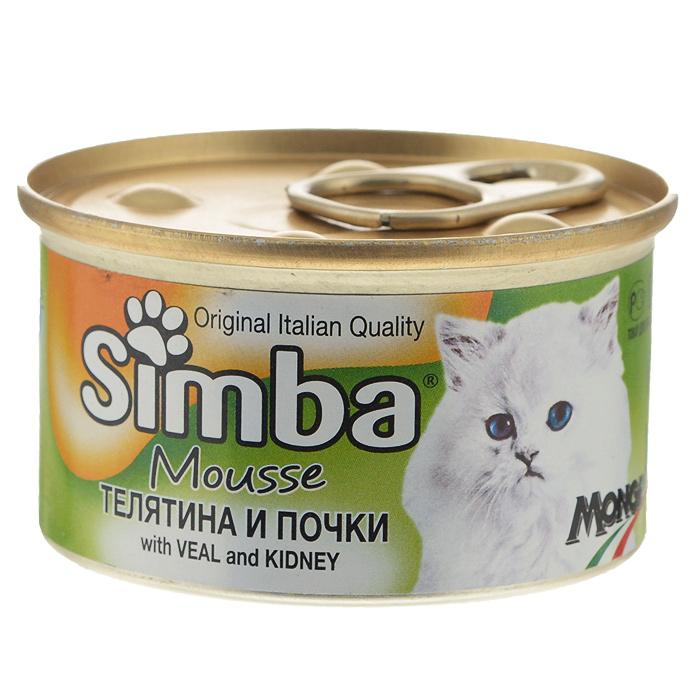 Консервы для кошек Monge Simba, мусс с телятиной и почками, 85 г70009409Консервы для кошек Monge Simba - это полноценный сбалансированный корм для кошек. Мусс с телятиной и почками. Ежедневная норма для кошки среднего размера (3-4 кг) - 400 г. Порцию можно разделить на несколько приемов. Состав: мясо и мясные субпродукты (телятина 6,5%, почки 4,5%), злаки, минеральные вещества, витамины, пищевые добавки. Анализ компонентов: сырой белок 8,5%, сырой жир 6%, сырая клетчатка 0,5%, сырая зола 2%, влажность 78%. Витамины и добавки на 1 кг: витамин D3 250 МЕ, витамин Е 5 мг, загустители, желирующие вещества. Товар сертифицирован.