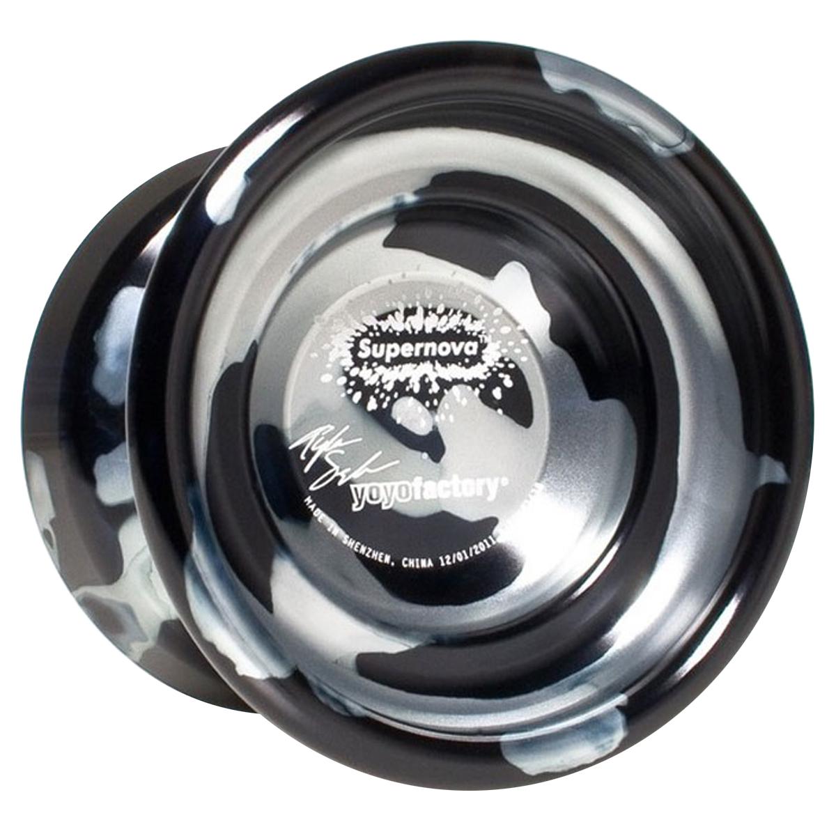 """Йо-йо YoYoFactory """"Supernova"""", цвет: черный, серебристый supernova/black"""
