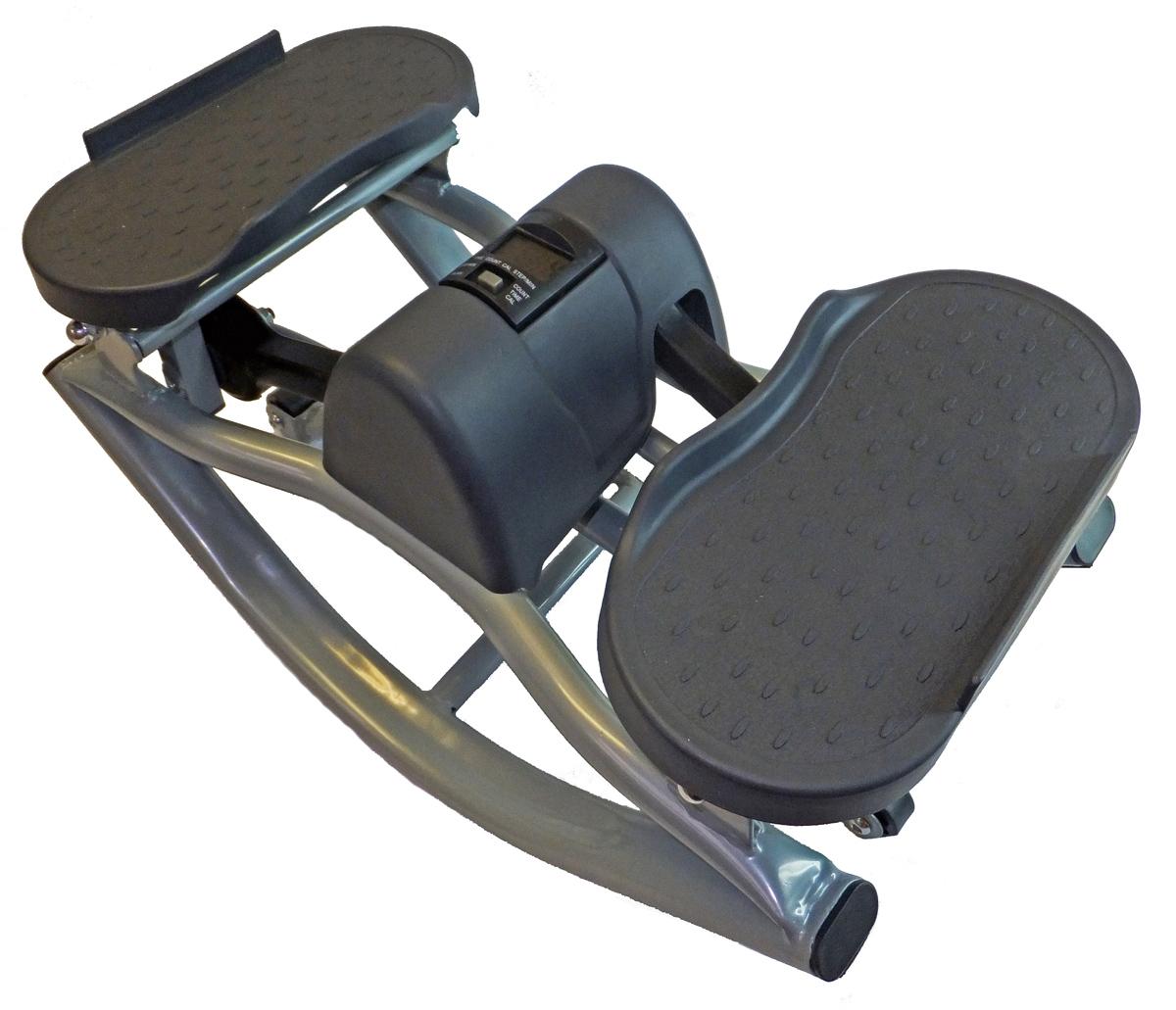 Степпер балансировочный Body Sculpture SE 5106, цвет: черныйGB-5106/ SE 5106Body Sculpture GB-5106/0722-03 - балансировочный министеппер, небольшой аэробный тренажер для дома и офиса (имитация ходьбы по лестнице). Отлично подойдет для тех, кто хочет самостоятельно в домашних условиях поддерживать свою физическую форму в хорошем состоянии. Занимаясь на этом тренажере, любой пользователь сможет тренировать различные группы мышц: бедра, ягодицы, бицепс, трицепс, плечи, спину. Балансировочный министеппер Body Sculpture GB-5106/0722-03 имеет удобный бортовой компьютер, который отслеживает время выполнения упражнения, скорость ходьбы, количество сделанных шагов и количество потраченных калорий. Министеппер Body Sculpture GB-5106/0722-03 - это максимально эффективный и при этом самый компактный и самый миниатюрный тренажер. Он подходит для большинства квартир, не занимает много места, Вы сможете хранить его даже под кроватью. Характеристики: Конструкция проста, надежна и компактна. Бесшумная модель, приводимая в движение...