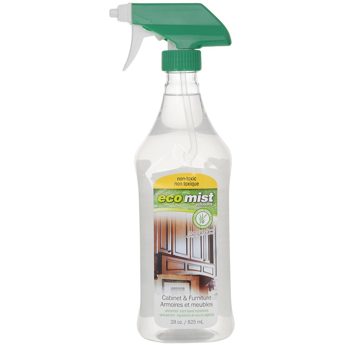 Средство для чистки мебели и уборки в кабинете Eco Mist, 825 млEM825XXFRTR06EFLСпециальное средство Eco Mist для удаления любых видов загрязнений, разводов, пыли с мебели, включая лакированную и из натурального дерева. Не оставляет следов после использования, а также предотвращает повторное оседание пыли. Не токсично. Без запаха. За счет активных полирующих свойств мебель надолго приобретает ухоженный вид, блеск и гладкость поверхностей. Состав: дехлорированная вода, кокос, различные экстракты, сахарный тростник, экстракт картофеля, кукуруза.
