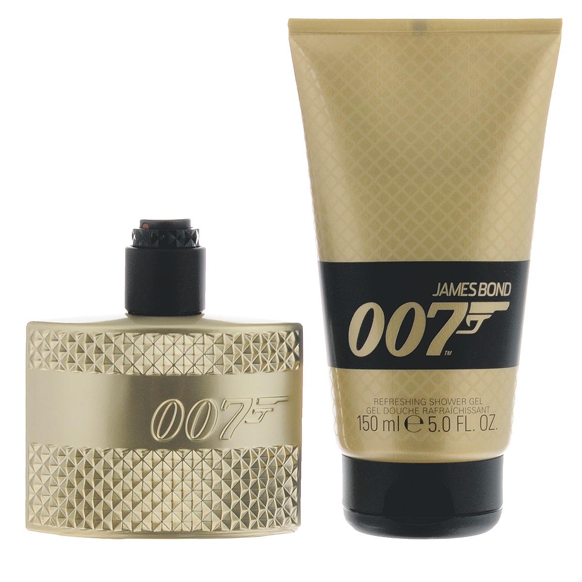 James Bond Подарочный набор Agent 007, мужской: туалетная вода, гель для душа
