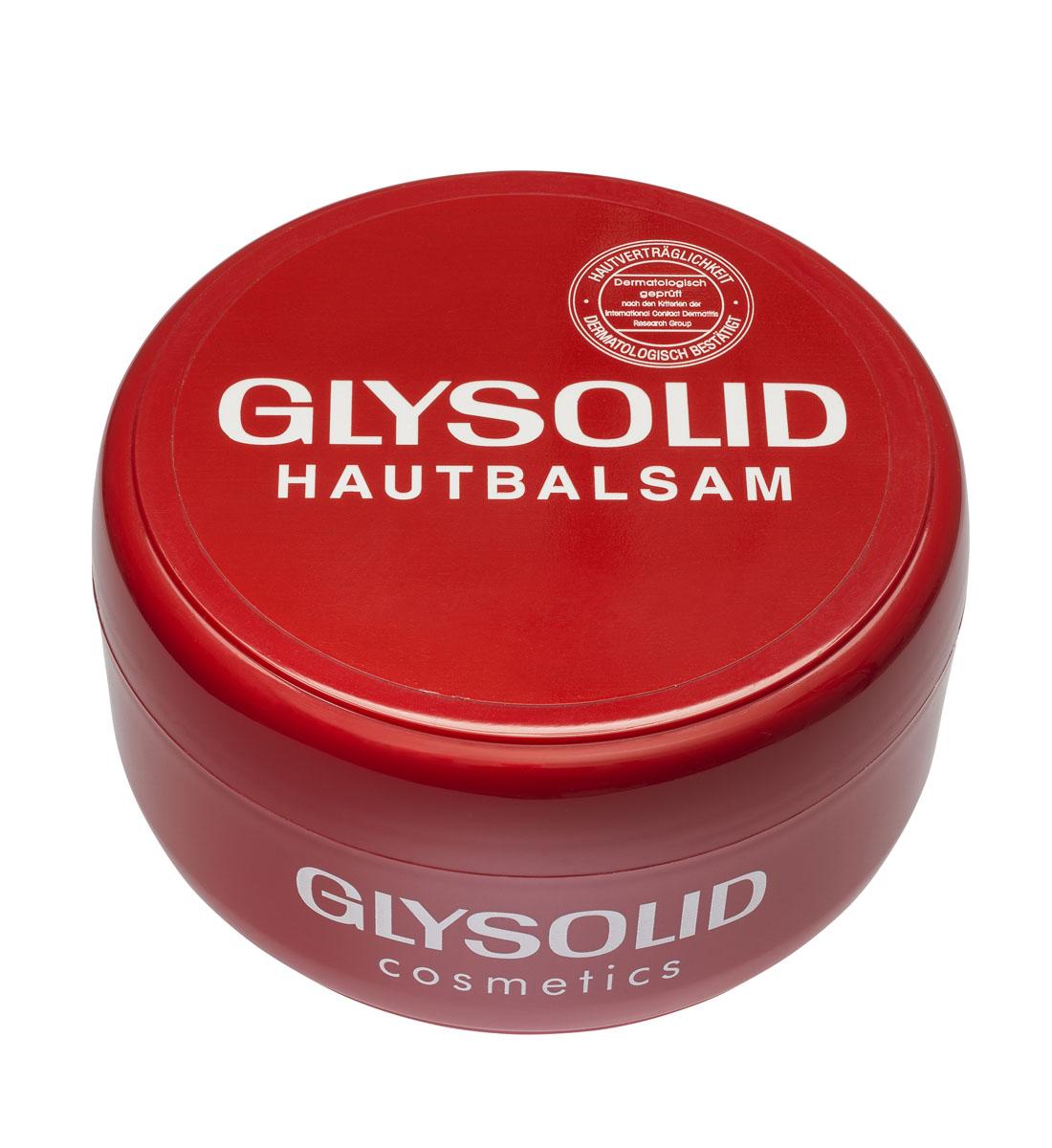 Glysolid Бальзам для кожи рук 200 млБ 63001Бальзам для кожи Glysolid - быстрая помощь для потрескавшейся и сухой кожи. Glysolid питает, заживляет раны, поддерживает регенерацию кожи, одновременно защищая ее. Без запаха. Гипоаллергенен. При регулярном применении быстро и надолго улучшит состояние Вашей кожи. Для всей семьи на каждый день. Подходит для детей с первых дней жизни и людям с заболеваниями кожного покрова. Без консервантов, красителей, парабенов, дерматологически протестирован.