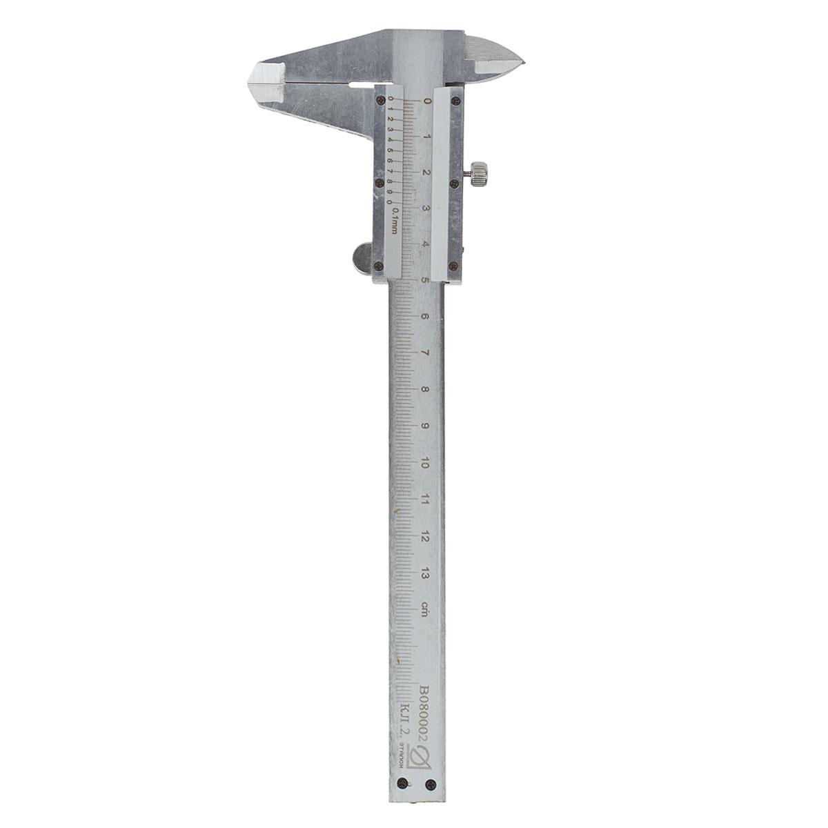 Штангенциркуль Эталон, 12,5 см19825Штангенциркуль предназначен для измерений наружных и внутренних линейных размеров, а так же для измерения глубин. Применяется в машиностроении, приборостроении и других отраслях промышленности. Характеристики: Материал: металл. Длина штангенциркуля: 21 см. Цена деления: 0,1 мм. Класс точности: 2. Размер упаковки: 23 см х 9 см х 0,5 см.