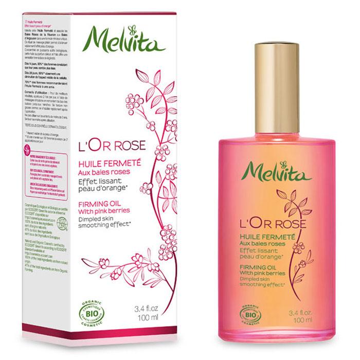 Melvita Укрепляющее антицеллюлитное масло L'Or Rose, 100 мл031152Настоящий подарок от Melvita тем, кто стремится к идеальным контурам тела и хочет наслаждаться каждым моментом ухода за собой. Ваша кожа становится плотнее, ровнее и мягче уже после первых дней применения. Четыре драгоценных масла, входящие в состав укрепляющего масла, не просто тонизируют кожу: они увлажняют и питают кожу, наполняя ее неуловимым ароматом жаркого солнца, океанского бриза и экзотических растений. Некомедогенно 99% ингредиентов натурального происхождения. 36% ингредиентов получены путем органического сельского хозяйства. • Семена и масло мякоти облепихи не только обладают функцией детоксикации, но и разрушают излишние триглецириды (жиры) в клетках адипоцитов, а также делают кожу более мягкой и ровной благодаря содержанию бета-каротина и витамина Е. • Масло черного перца улучшает микроциркуляцию и разрушает адипоциты. • Масло шиповника богато альфа-линоленовой кислотой, укрепляет и увлажняет кожу и делает ее более эластичной.