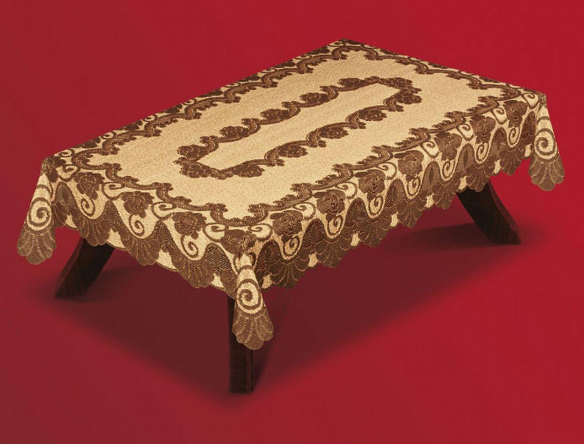 Скатерть Haft, прямоугольная, цвет: кофейный, коричневый, 150 x 300 см. 201550-150201550-150Великолепная прямоугольная скатерть Haft, выполненная из полиэстера, органично впишется в интерьер любого помещения, а оригинальный дизайн удовлетворит даже самый изысканный вкус. Скатерть изготовлена из сетчатого материала с ажурным цветочным рисунком. Края скатерти ажурные. Скатерть Haft создаст праздничное настроение и станет прекрасным дополнением интерьера гостиной, кухни или столовой.