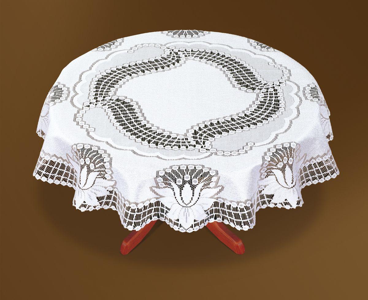Скатерть Haft, цвет: белый, диаметр 160 см. 46083-16046083-160Великолепная круглая скатерть Haft, выполненная из полиэстера, органично впишется в интерьер любого помещения, а оригинальный дизайн удовлетворит даже самый изысканный вкус. Скатерть изготовлена из сетчатого материала с ажурным цветочным рисунком. Скатерть Haft создаст праздничное настроение и станет прекрасным дополнением интерьера гостиной, кухни или столовой. Диаметр скатерти: 160 см.