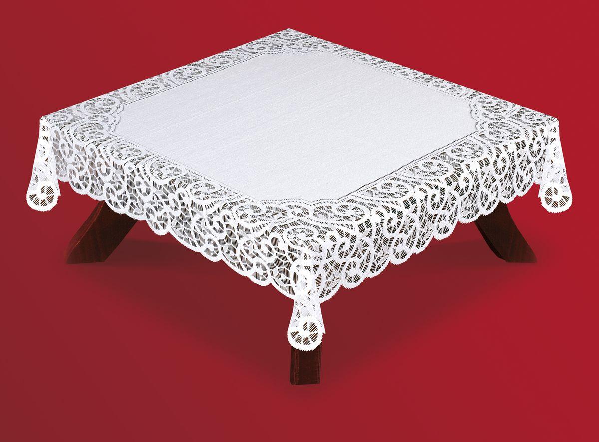 Скатерть Haft, квадратная, цвет: белый, 120 x 120 см. 50642-12050642-120Великолепная квадратная скатерть Haft, выполненная из полиэстера, органично впишется в интерьер любого помещения, а оригинальный дизайн удовлетворит даже самый изысканный вкус. Скатерть изготовлена из сетчатого материала с ажурным рисунком по краям. Края скатерти ажурные. Скатерть Haft создаст праздничное настроение и станет прекрасным дополнением интерьера гостиной, кухни или столовой.