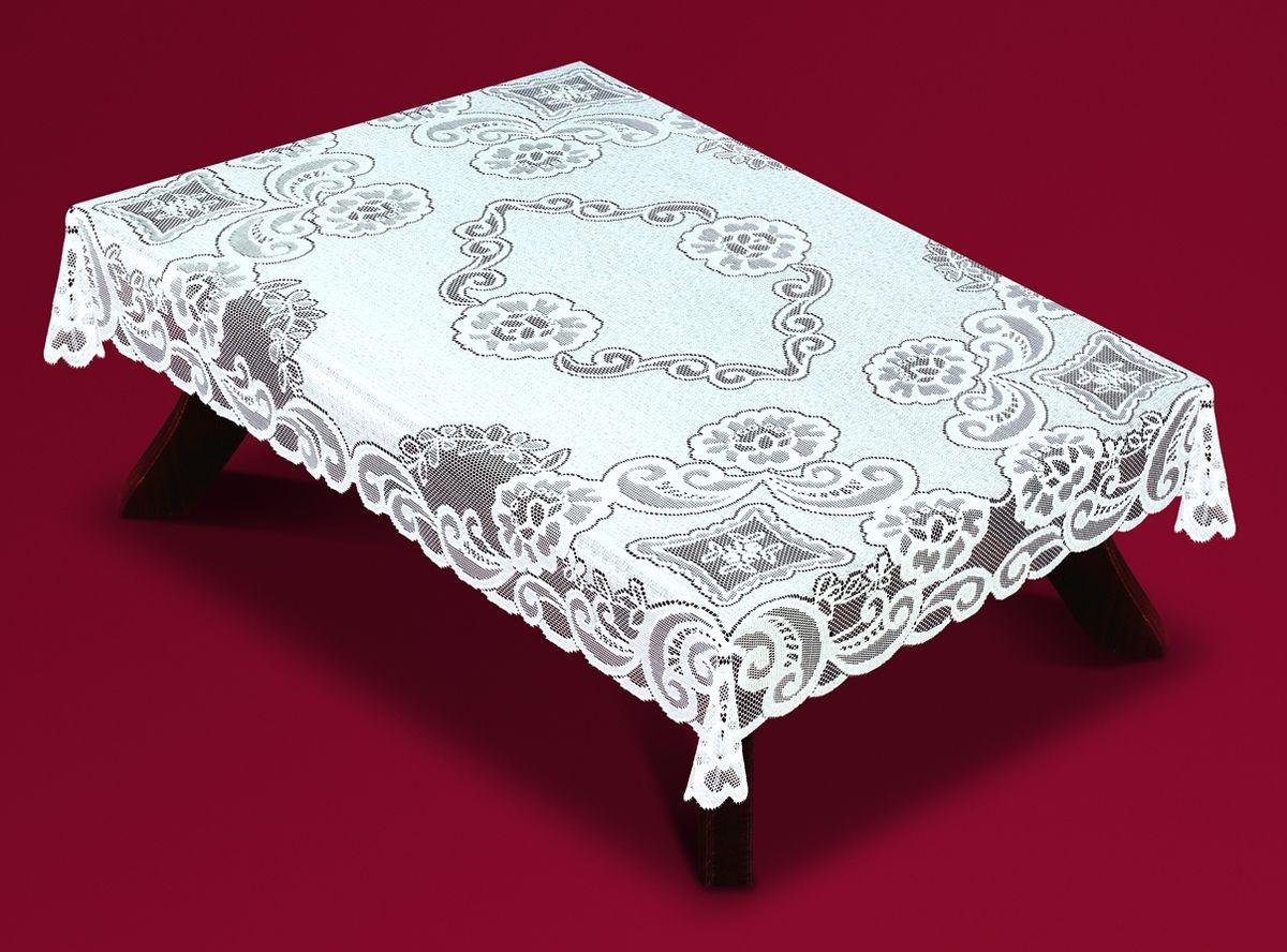 Скатерть Haft, прямоугольная, цвет: белый, 120 x 160 см. 54920-12054920-120Великолепная прямоугольная скатерть Haft, выполненная из полиэстера, органично впишется в интерьер любого помещения, а оригинальный дизайн удовлетворит даже самый изысканный вкус. Скатерть изготовлена из сетчатого материала с ажурным рисунком. Скатерть Haft создаст праздничное настроение и станет прекрасным дополнением интерьера гостиной, кухни или столовой.