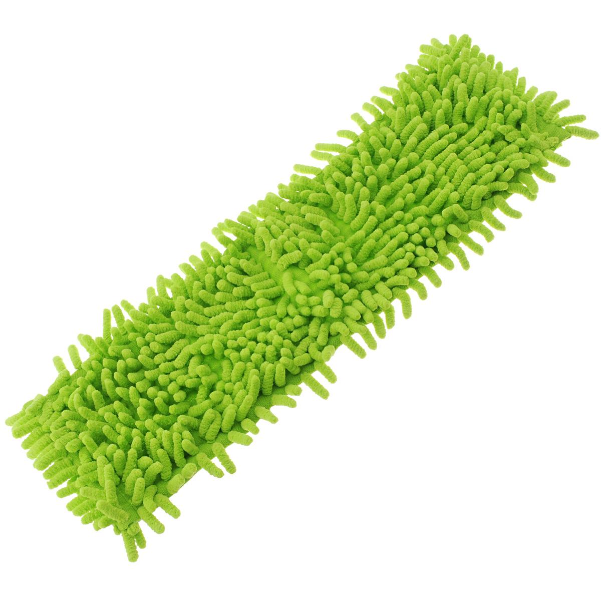 Насадка для швабры Home Queen Еврокласс, цвет: салатовый, длина 40 см57220Сменная насадка для швабры Home Queen Еврокласс изготовлена из шенилла, разновидности микрофибры. Материал обладает высокой износостойкостью, не царапает поверхности и отлично впитывает влагу. Насадка отлично удаляет большинство жирных и маслянистых загрязнений без использования химических веществ. Насадка идеально подходит для мытья всех типов напольных покрытий. Она не оставляет разводов и ворсинок. Сменная насадка для швабры Home Queen Еврокласс станет незаменимой в хозяйстве. Размер насадки: 40 х 12 см.
