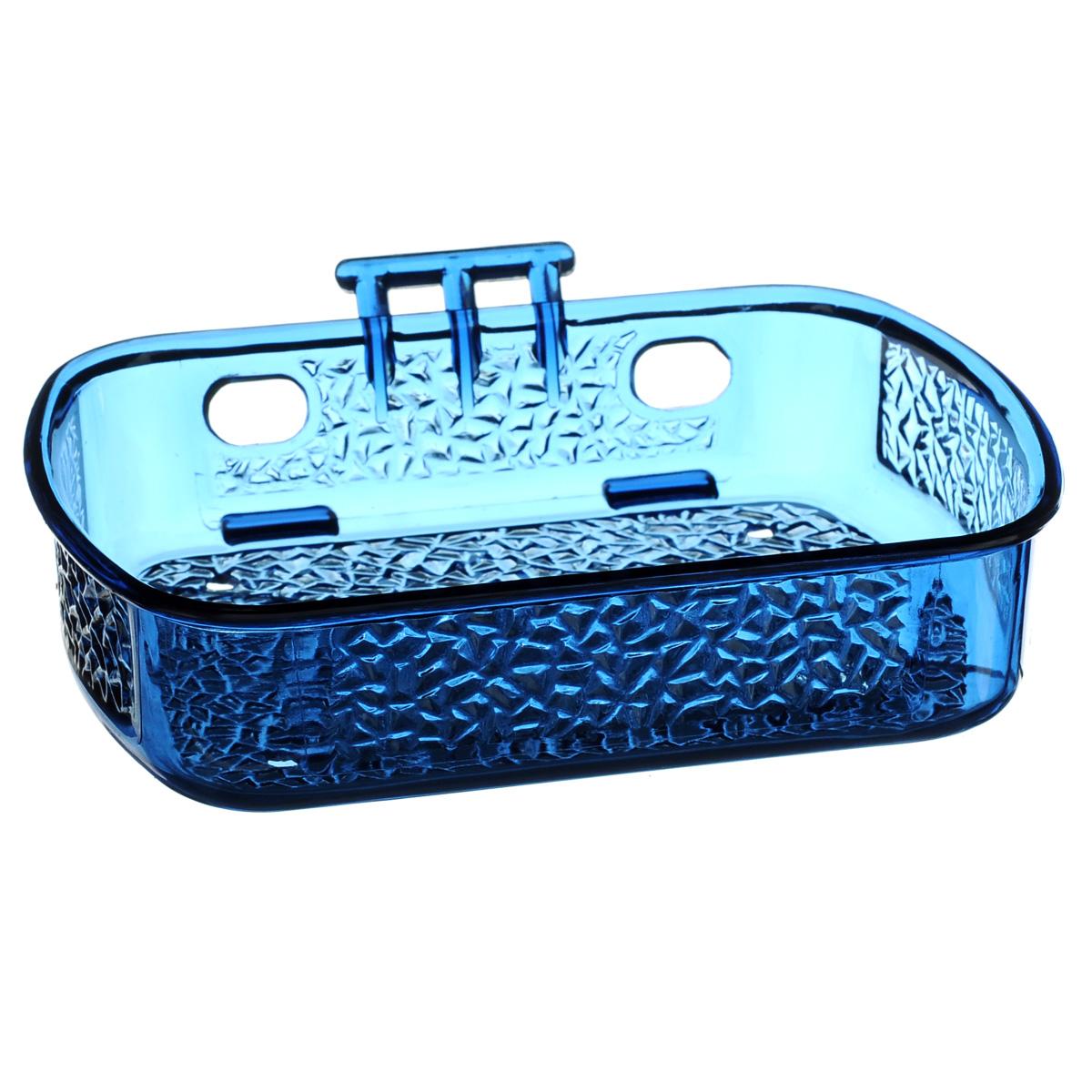 Мыльница Fresh Code, на липкой основе, цвет: синий, 13 см х 10 см64946Мыльница для ванной комнаты Fresh Code, выполнена из цветного пластика. Крепление на липкой ленте многократного использования идеально подходит для гладкой поверхности. Такая мыльница прекрасно подойдет для интерьера ванной комнаты.