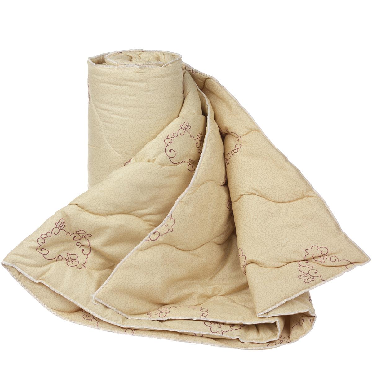 Одеяло Dargez Находка, наполнитель: овечья шерсть, цвет: бежевый, 172 х 200 см20(33)323Одеяло Dargez Находка подарит уютный и комфортный сон. Чехол одеяла выполнен из микрофибры и оформлен изображением овечек. Фигурная стежка надежно удерживает наполнитель внутри. Изделия с шерстяным наполнителем: - обладают лечебно-профилактическим эффектом, - гигроскопичны: обеспечивают комфортное сухое тепло, - обладают хорошей циркуляцией воздуха. Рекомендации по уходу: - Стирка запрещена. - Запрещается отбеливать, гладить, выжимать и сушить. - Химическая чистка любым растворителем, кроме трихлорэтилена. Материал чехла: микрофибра (100% полиэстер). Материал наполнителя: овечья шерсть. Плотность наполнителя: 200 г/м2. Размер одеяла: 172 см х 200 см.