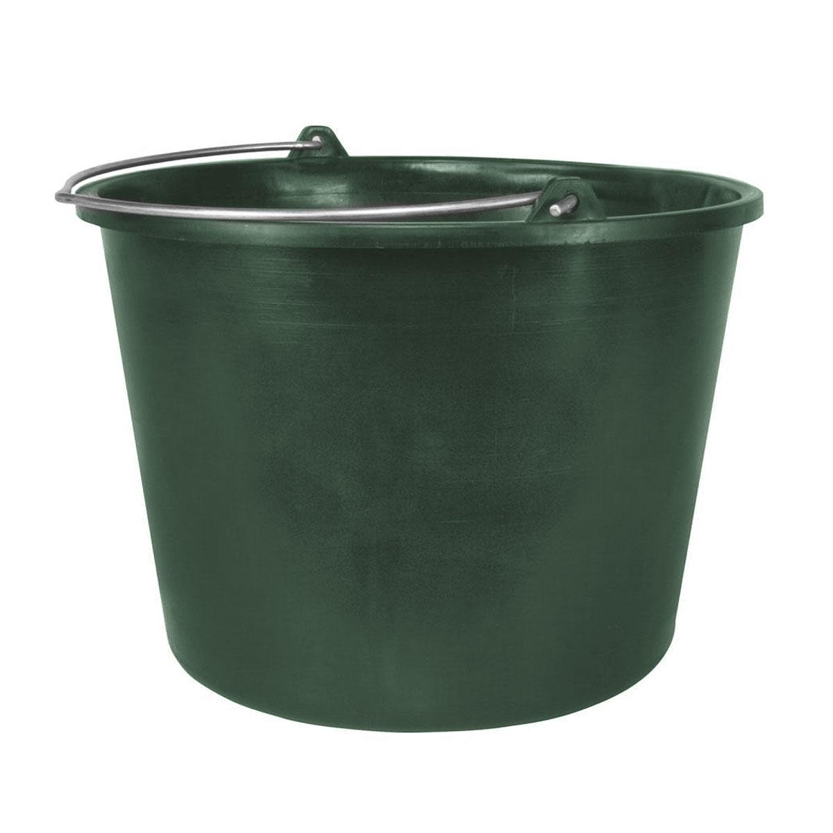 Ведро строительное Альтернатива, цвет: зеленый, 15 лМ3022Круглое ведро Альтернатива изготовлено из высококачественного пластика. Оно легче железного и не подвержено коррозии. Ведро оснащено жесткой металлической ручкой. Наполненное ведро выдерживает падение с 15 м высоты. Используется для строительных и хозяйственных нужд. Размер: 33 см х 33 см х 26,5 см.